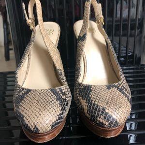 Joan & David Snake Skin Shoes